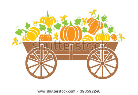 Old Pumpkins Wagon Stock Photos, Royalty.