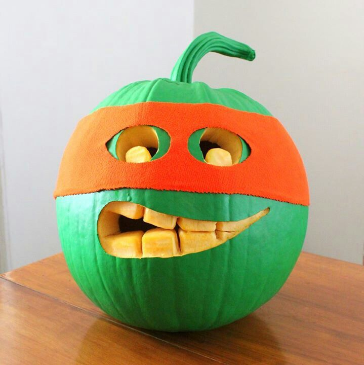 pumpkin with a nija mask clipart - Clipground