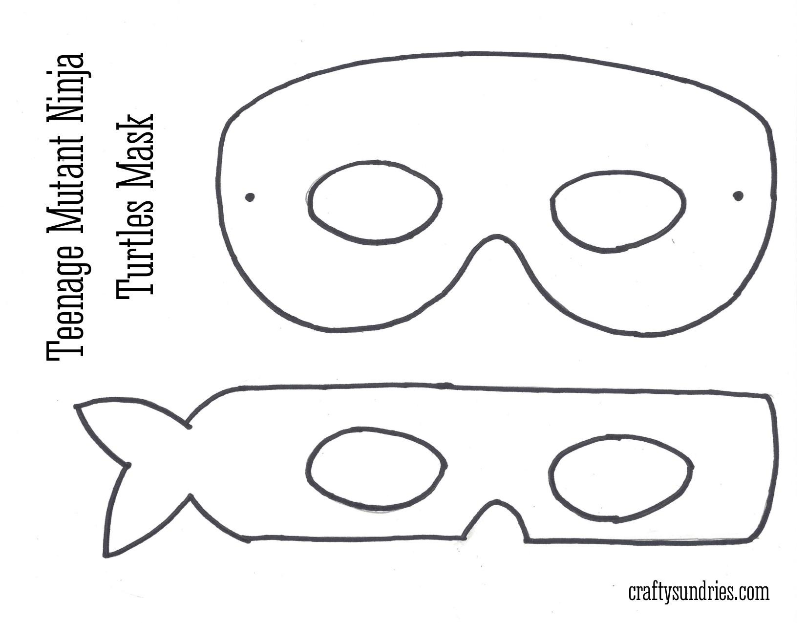 printable teenage mutant ninja turtle mask template.