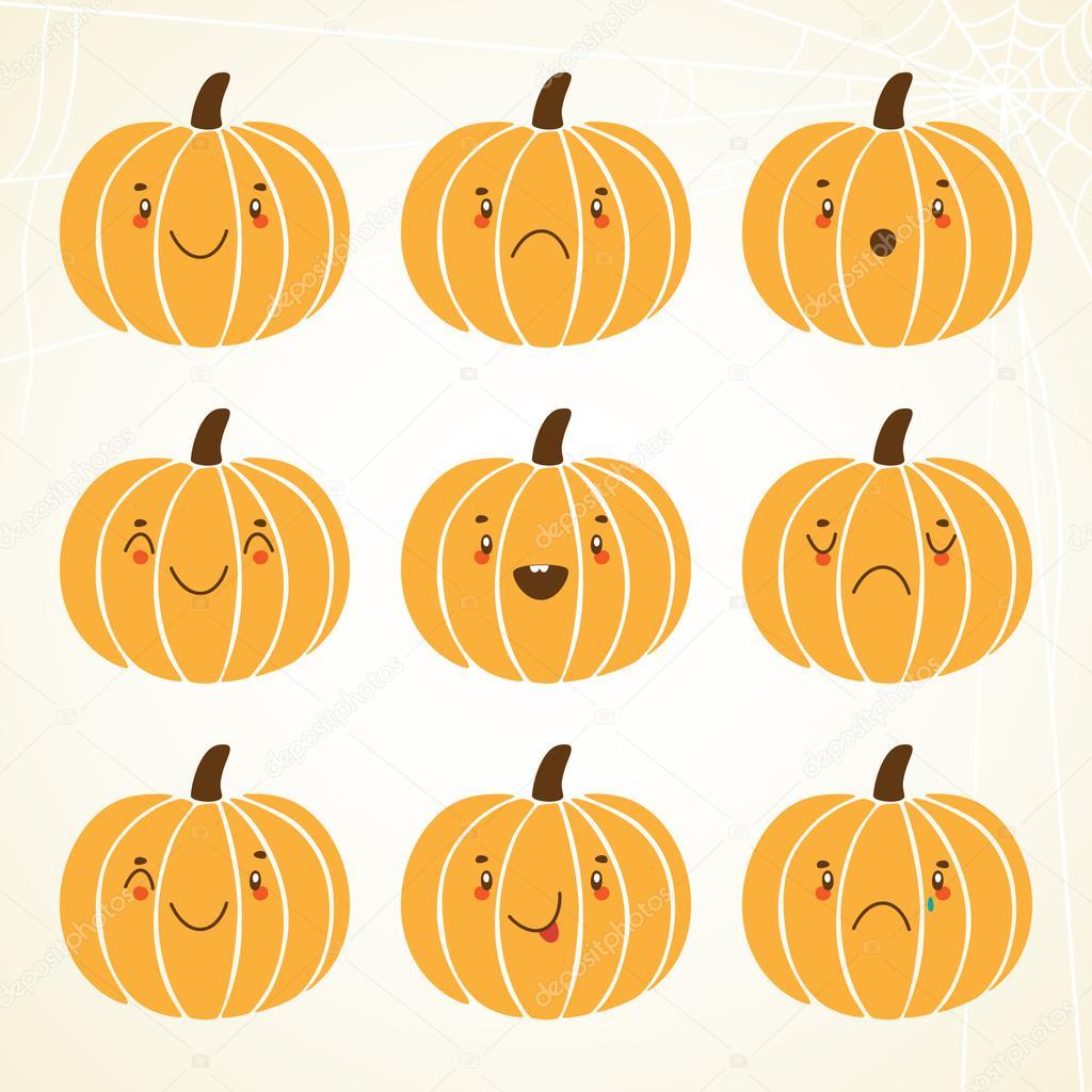Cute halloween pumpkin — Stock Vector © Nenochka #12230851.