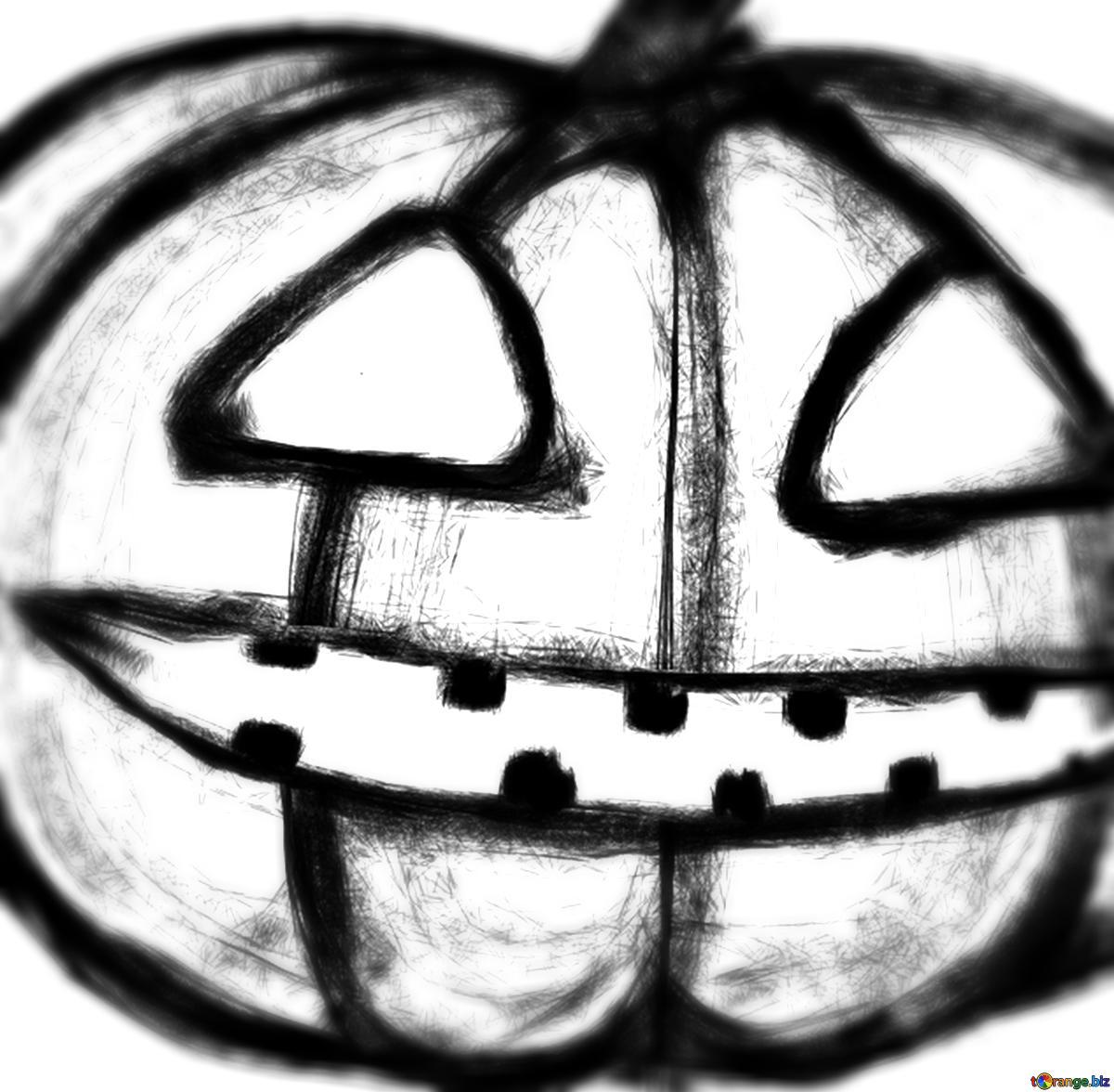 Download free picture Halloween Pumpkin clipart blur frame.