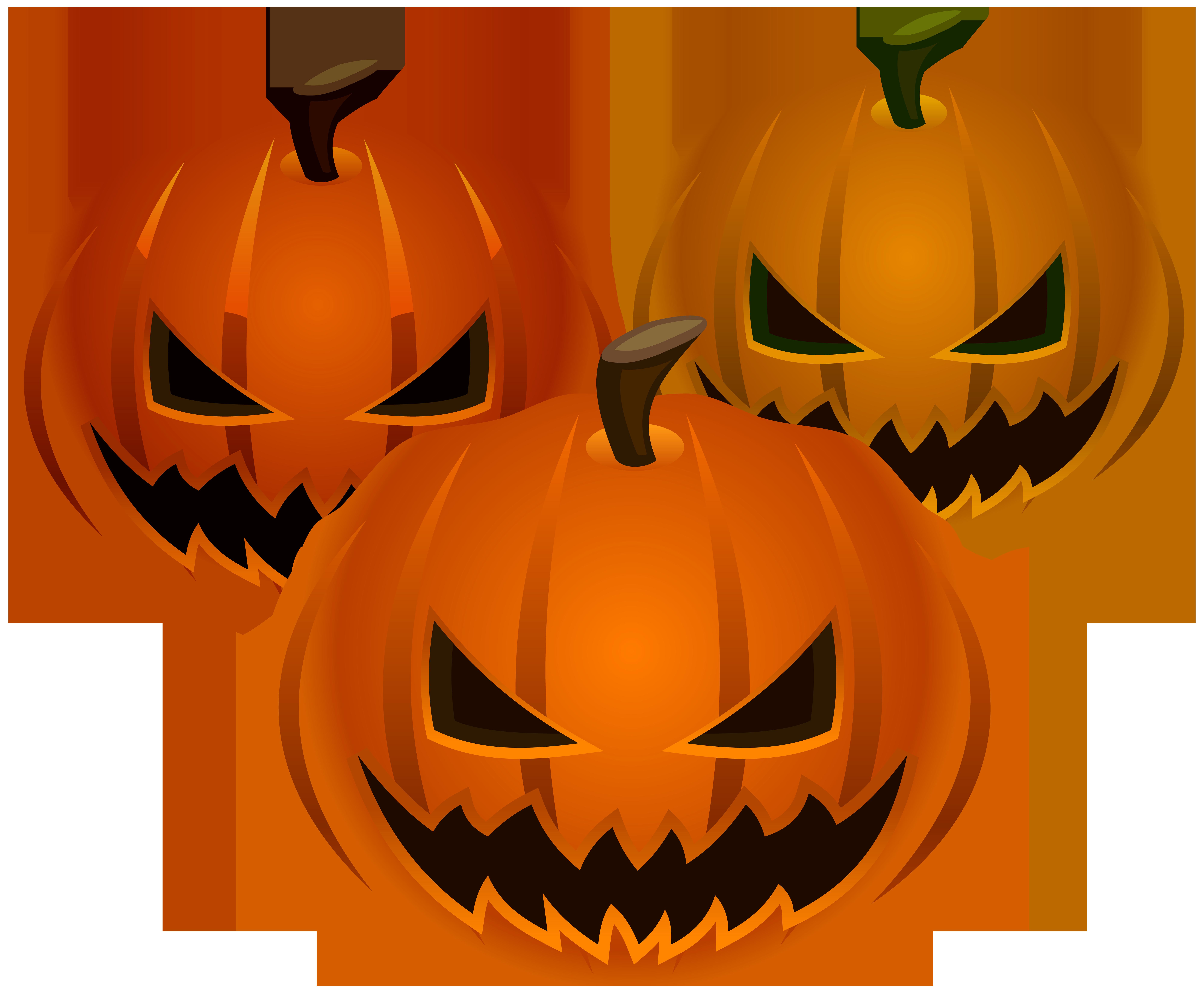 Halloween Pumpkins PNG Clip Art Image.