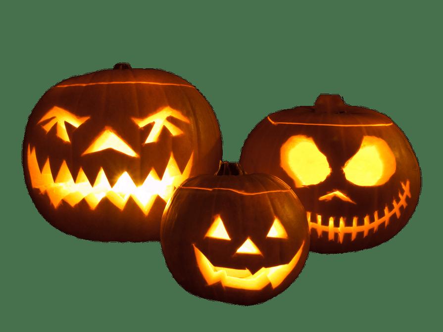 Halloween Pumpkins transparent image.