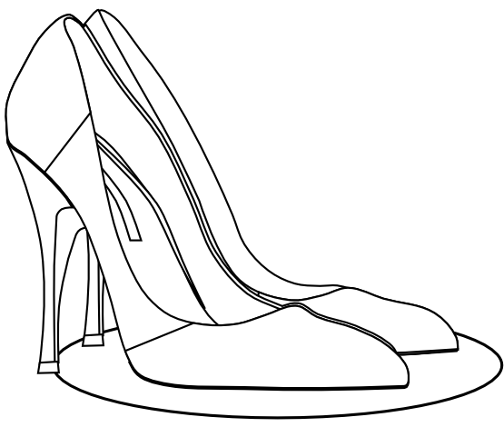 Clip Art Clothes High Heels Pumps Black White #CNsN2w.