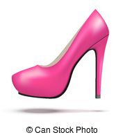 Pump shoe Vector Clipart Royalty Free. 535 Pump shoe clip art.