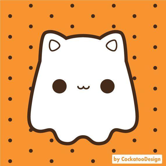 Kawaii Halloween clip art, Halloween pun clipart, cute.