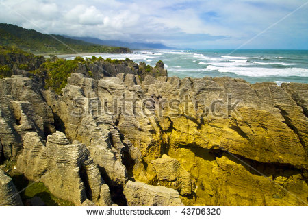 Punakaiki Pancake Rocks West Coast New Stock Photo 32304523.