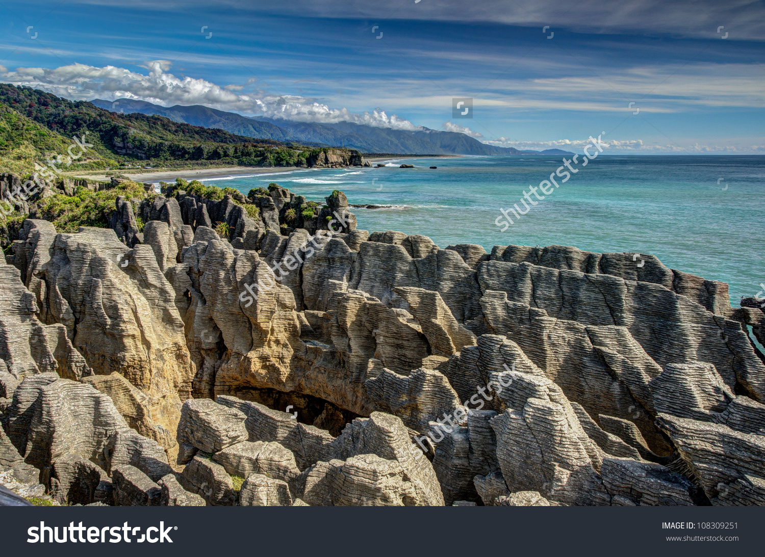 Pancake Rocks Punakaiki West Coast New Stock Photo 108309251.