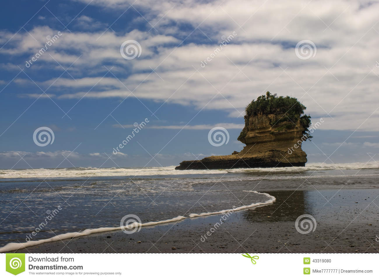 Punakaiki Beach, West Coast, South Island, New Zealand Stock Photo.