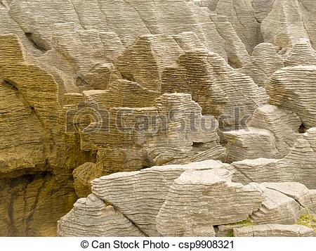 Stock Photography of Background of Pancake Rocks of Punakaiki, NZ.