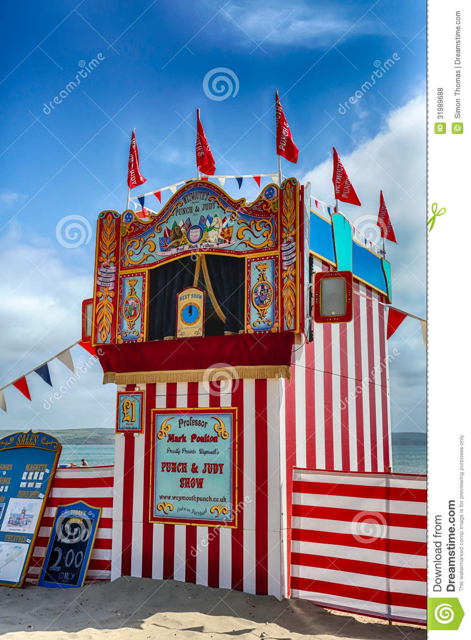 Punch & Judy Editorial Stock Photo.