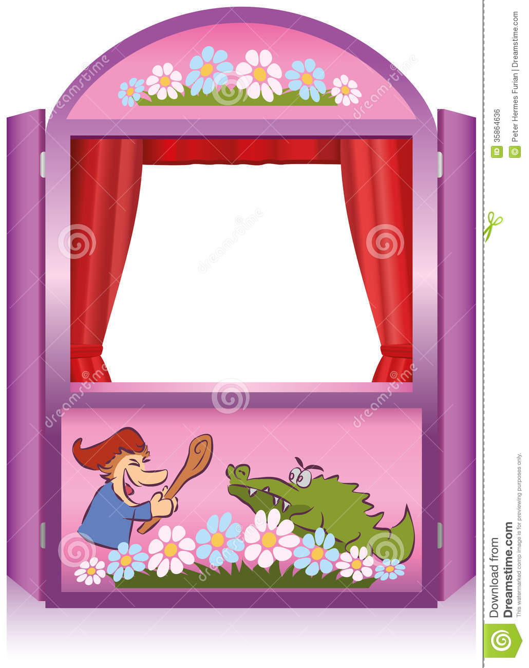 Punch And Judy Booth Royalty Free Stock Image.