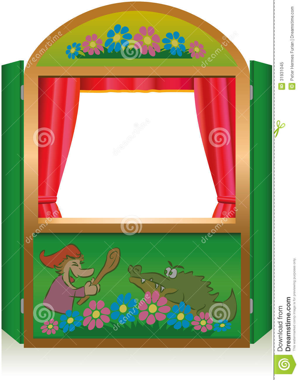 Punch And Judy Booth Royalty Free Stock Photo.