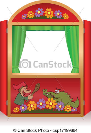 Vector of Punch And Judy Booth.