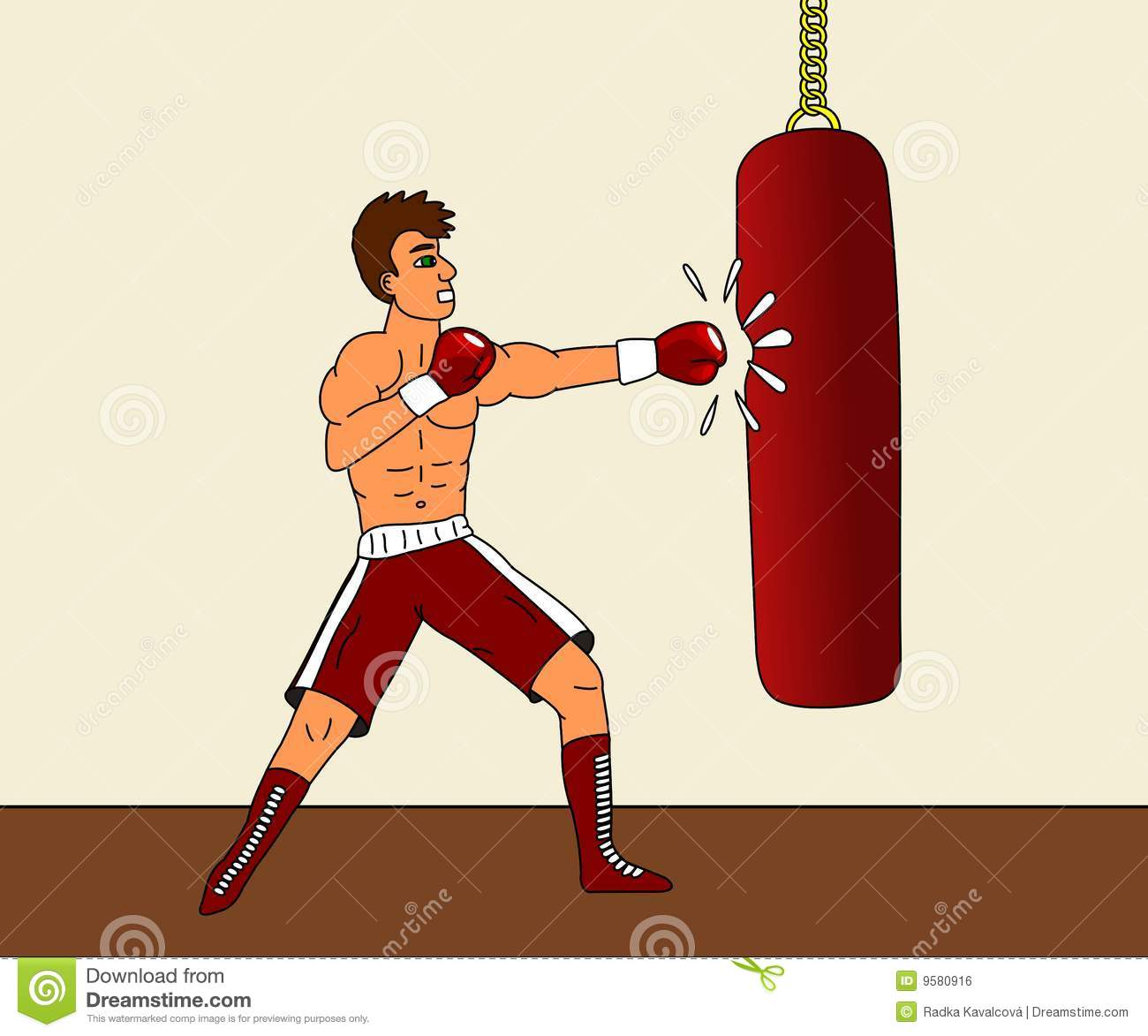Boxing bag clipart.