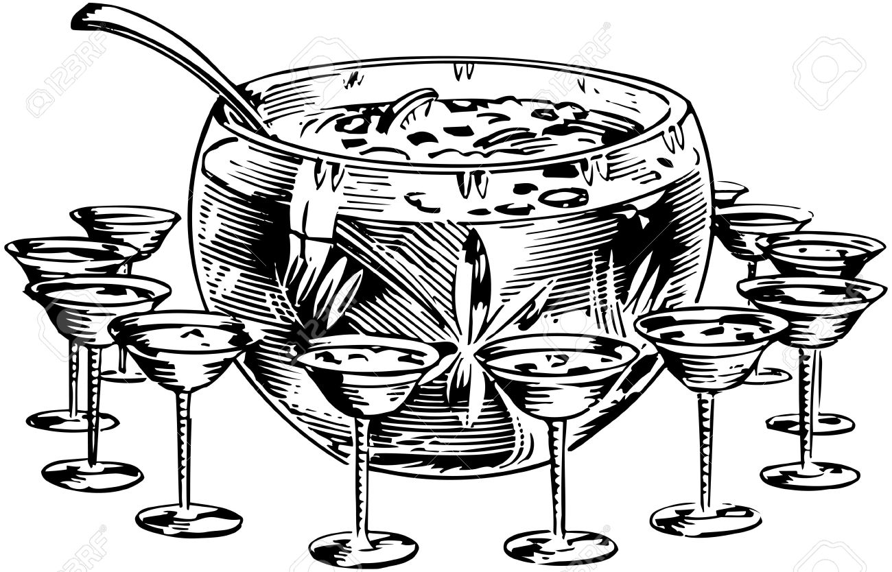 Punch Bowl 1 Royalty Free Cliparts, Vectors, And Stock.