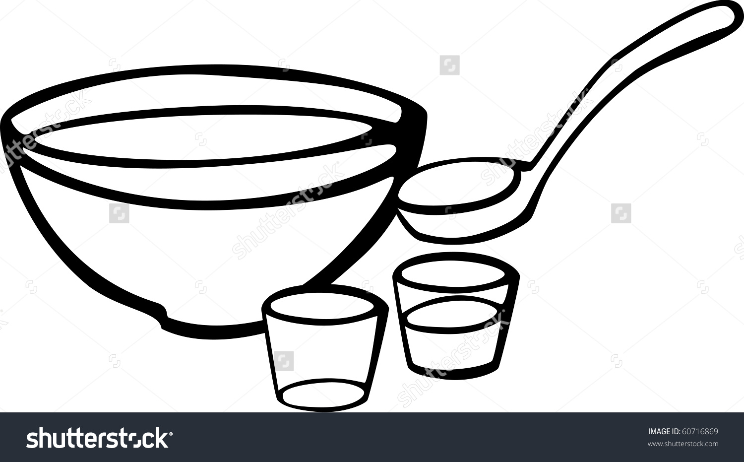 Punch Bowl Cups Stock Illustration 60716869.