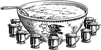 Punch Bowl Stock Illustrations.