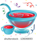 Punch bowl vector drawing.