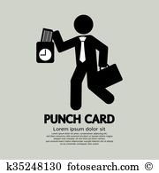 Punch card Clip Art Vector Graphics. 264 punch card EPS clipart.