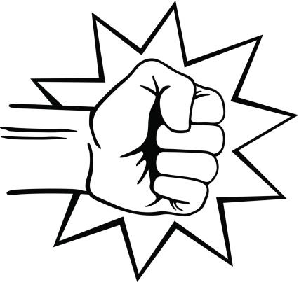 Punch It Fist Clip Art.
