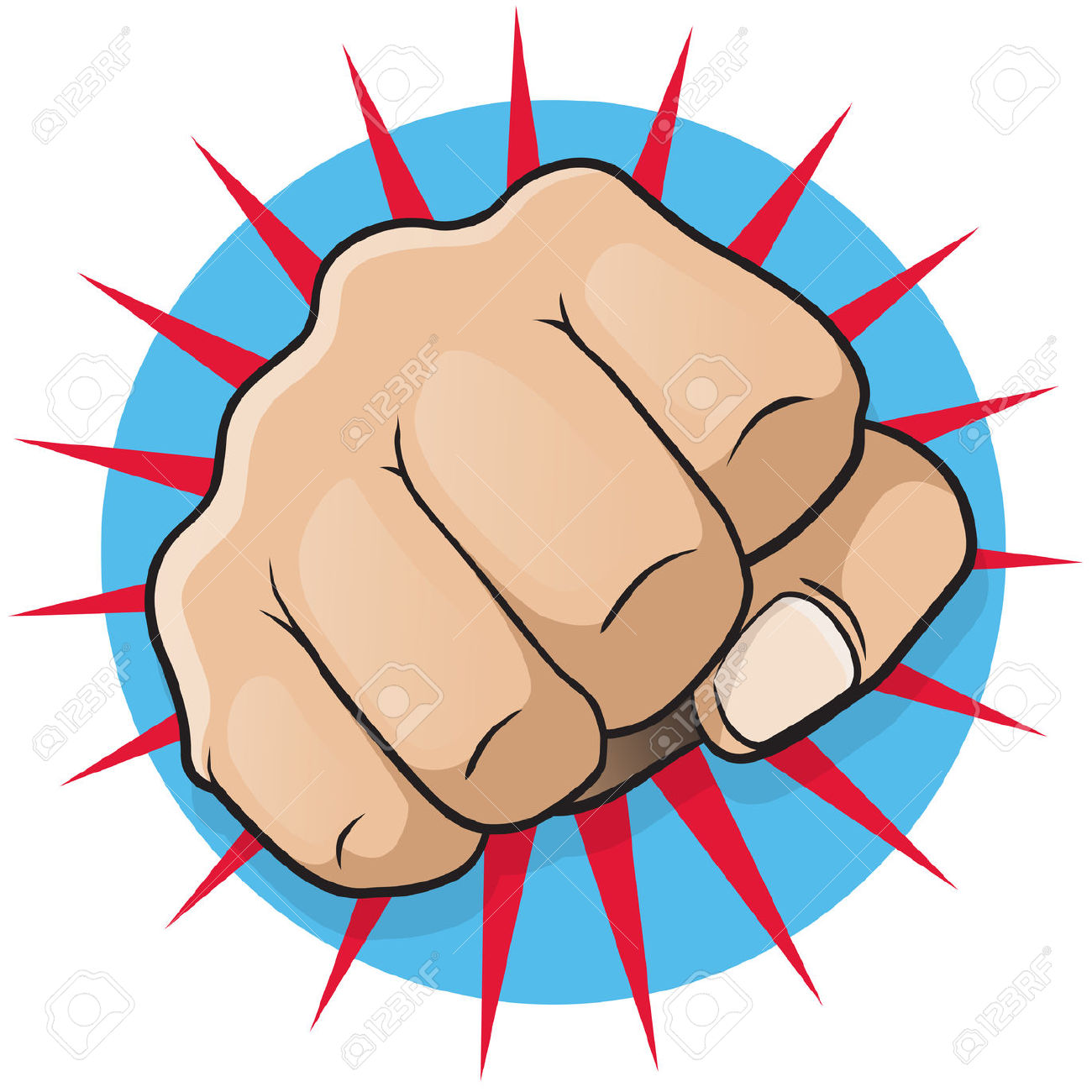 Fist punch clipart.