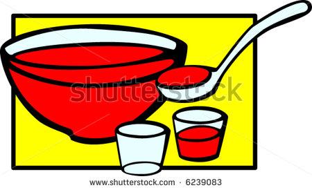 Fruit Punch Bowl Clipart.