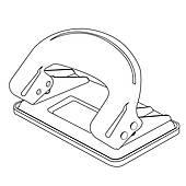 Clip Art of paper punch outline vector k15670177.