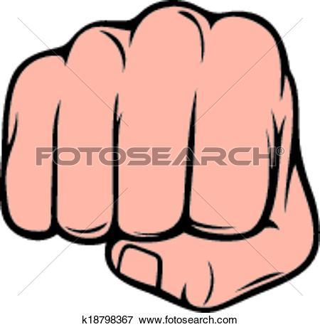 Clip Art of fist punching (human hand punching) k18798367.