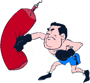 Punching Clipart.