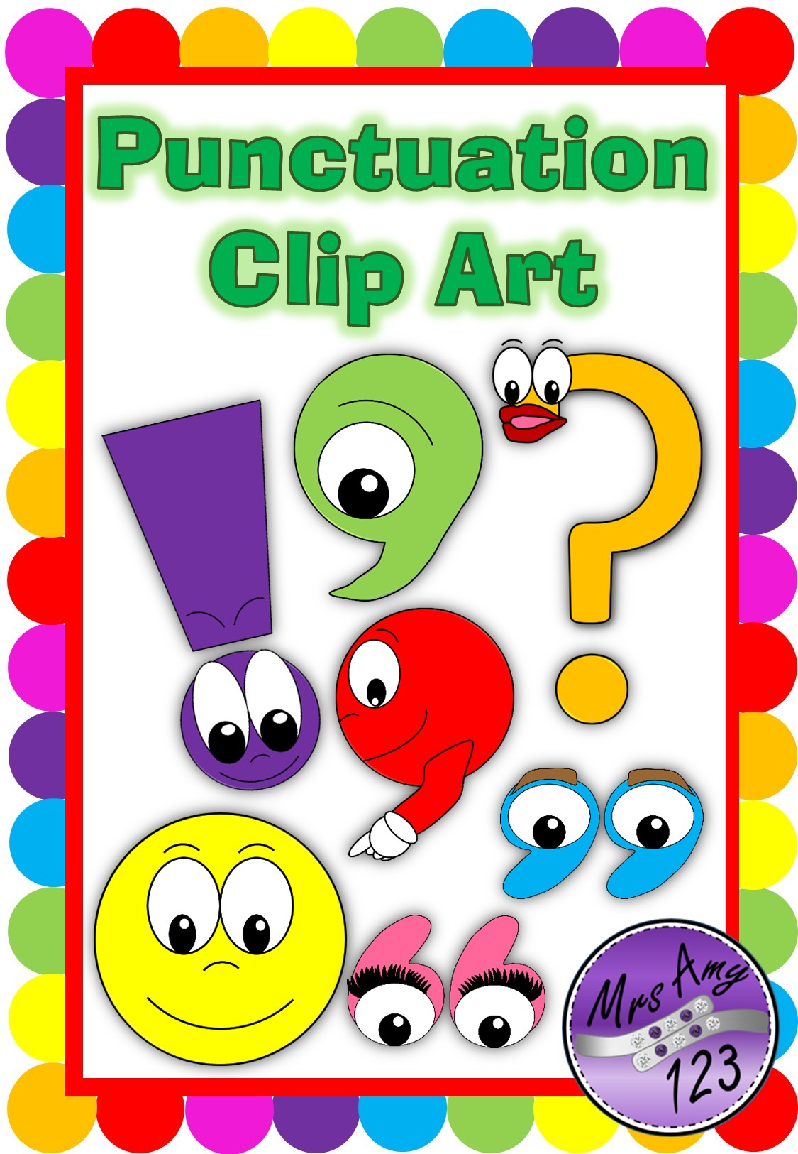 Punctuation period clipart images.