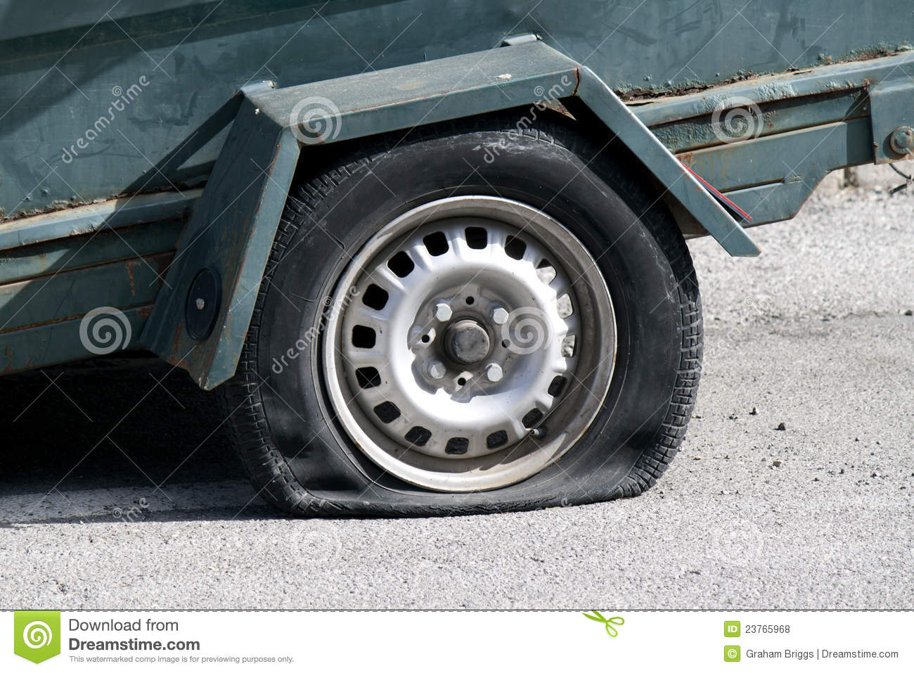 Tyre Puncture Stock Photos, Images, & Pictures.