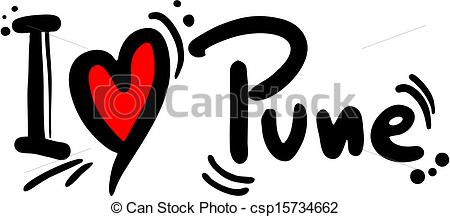 Clip Art Vector of Pune love.