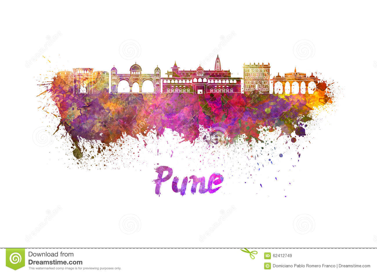 Pune Stock Illustrations.
