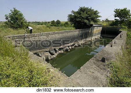 Stock Photo of Krishna Lift Irrigation Project at Ralegan Siddhi.