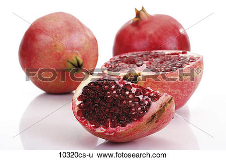Stock Images of Pomegranate (Punica granatum) and Pomegranate.