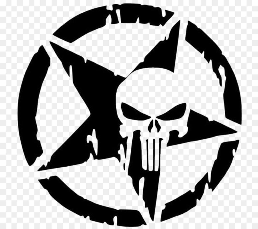 Punisher Skull clipart.
