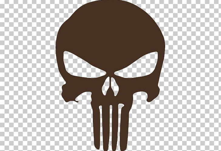 Punisher Red Skull Logo Decal Human Skull Symbolism PNG.