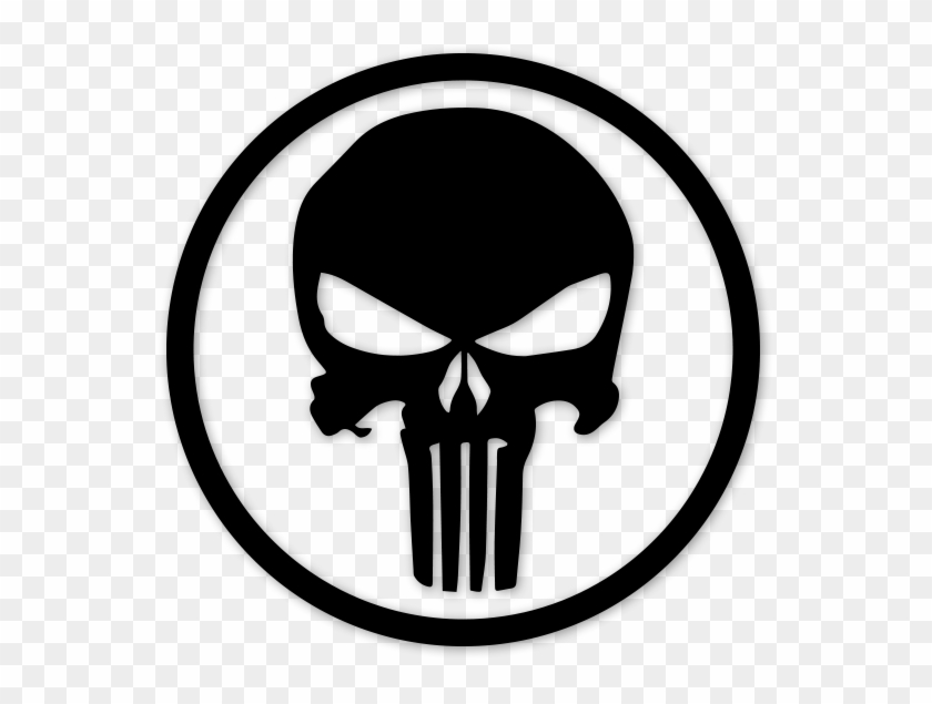 Punisher Skull Circle, HD Png Download.