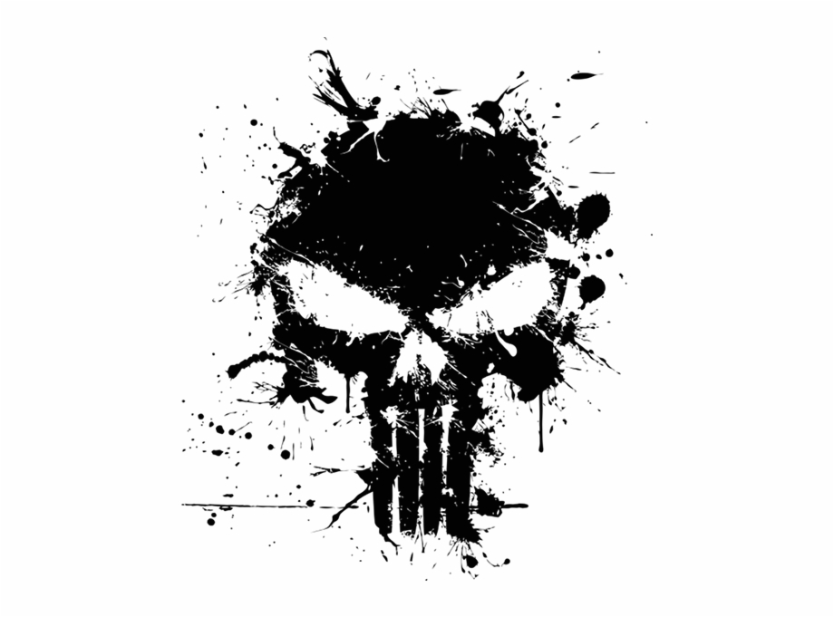 Punisher, Graphic Design, Marvel Comics, Black And.