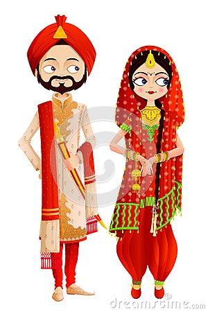 Punjabi Culture Stock Illustrations.