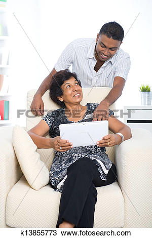 Stock Photo of punjabi family ,mother and son with traditional.