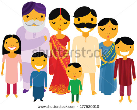 Vector Illustration Indian Couple Different Culture Stock Vector.