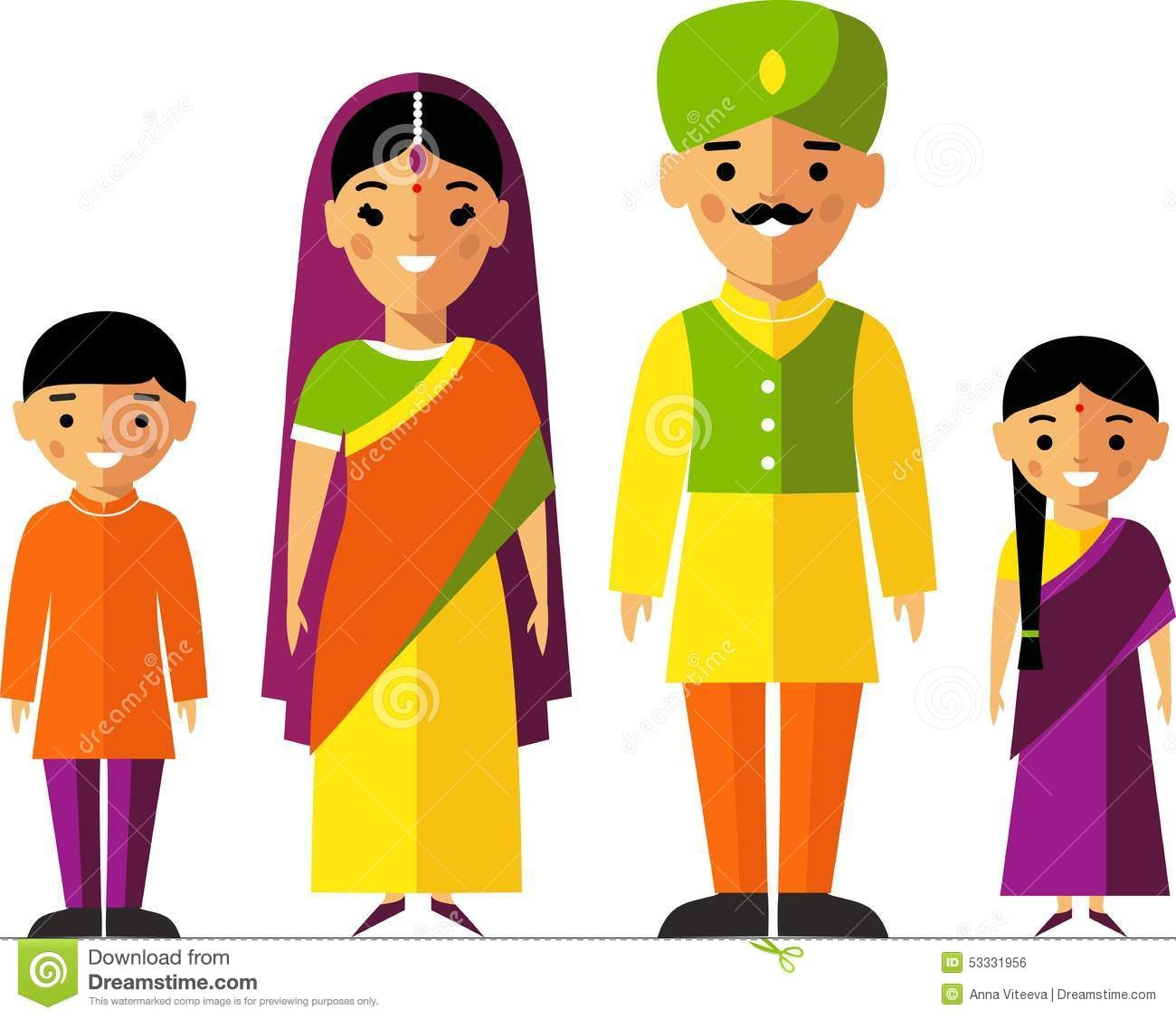 Punjabi Family Clipart.