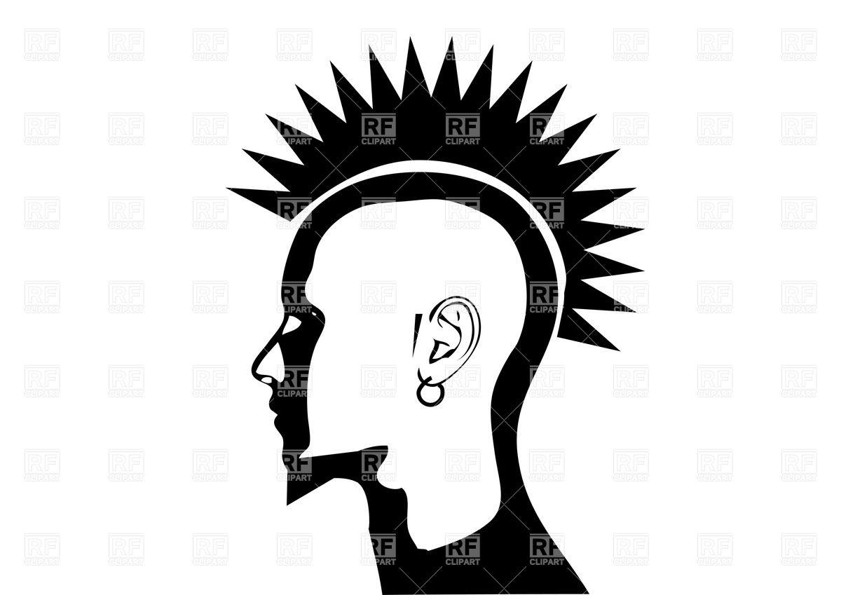 Iroquois on head of punk.