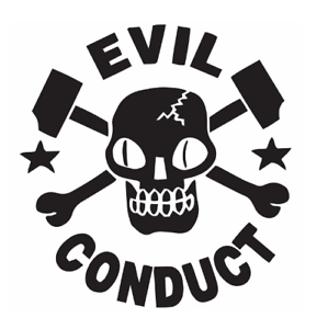 Details about Evil Conduct Band Logo Vinyl Sticker Skinhead Punk Rock Oi.
