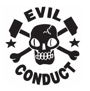 Details about Evil Conduct Band Logo Vinyl Sticker Skinhead Punk Rock Oi.