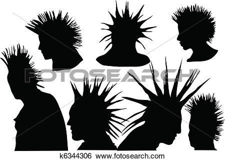 Clip Art of punks k6344306.
