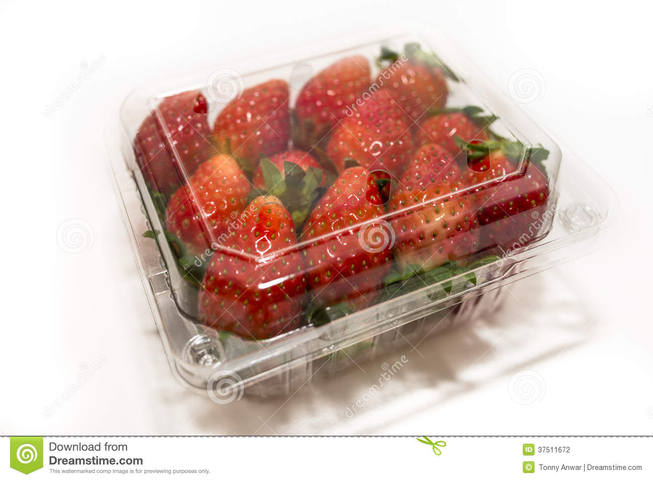 Strawberry Punnet Stock Photography.