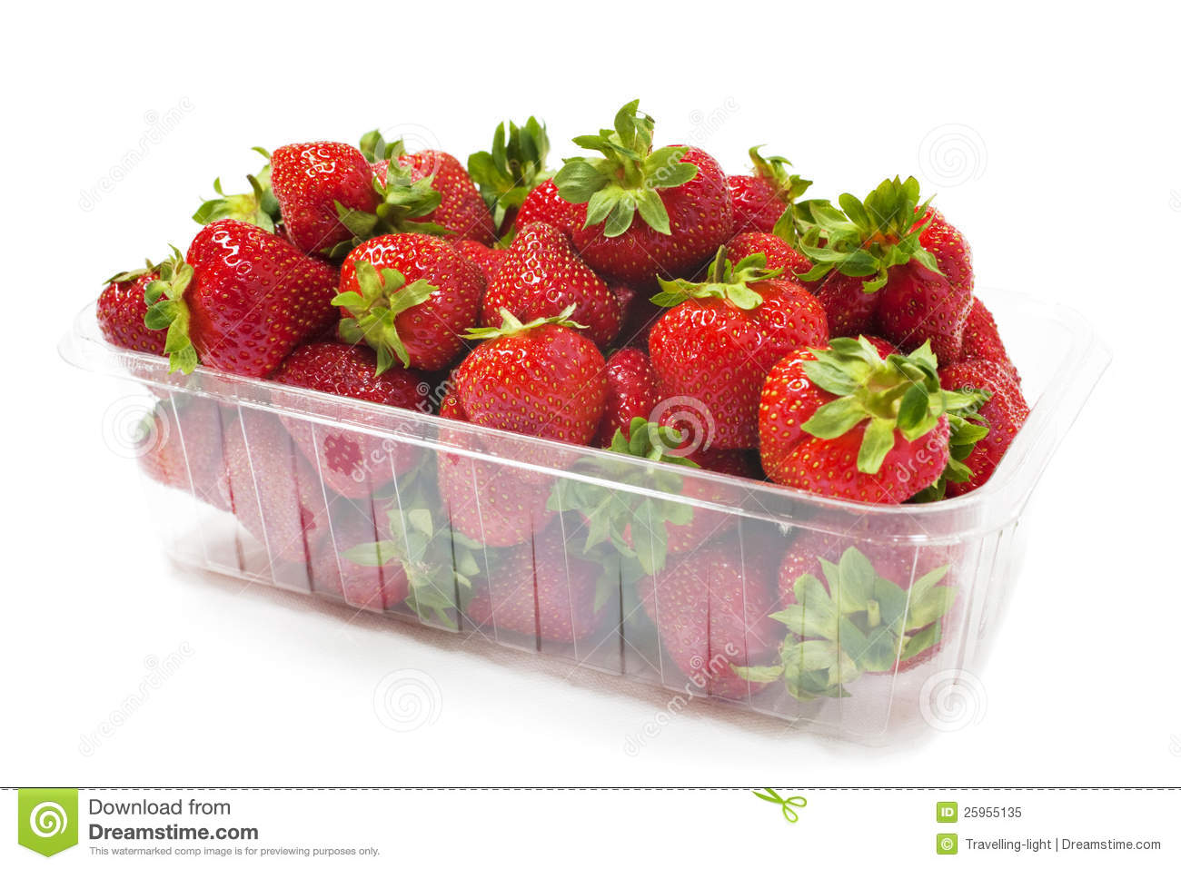 Punnet Of Strawberries Royalty Free Stock Images.
